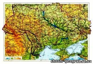 Скачать Физическая Карта Украины - фото 9